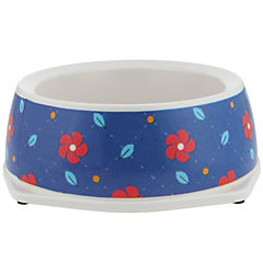 Plato de comida para mascota melamina azul