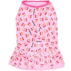 Camiseta de frutas con vuelos para perros rosado talla XS