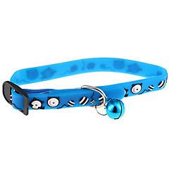 Collar para gatos con cascabel azul
