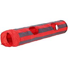 Túnel de juego con sonido para gatos rojo