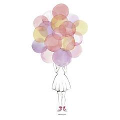 Poster 70x50 cm globos rosado