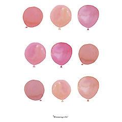 Poster 40x30 cm globos rosado