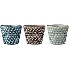 Portavelas cerámica multicolor, 3 modelos