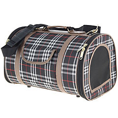 Bolso para transportar mascotas escocés talla L