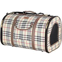Bolso para transportar mascotas escocés beige talla S