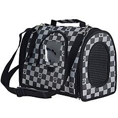 Bolso de transporte plegable para mascotas negro talla M