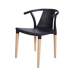 Silla 75x49x47 cm plástico negra