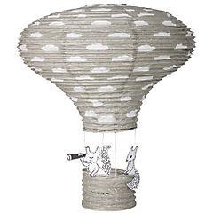 Lámpara 40x60 cm globo papel gris