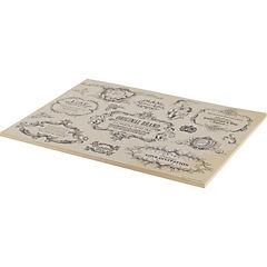 Set de 50 individuales de papel san valentin 43x33 cm gris