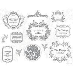 Set de 50 individuales de papel vintage 43x33 cm