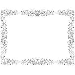 Set de 50 individuales de papel flor gris 43x33 cm