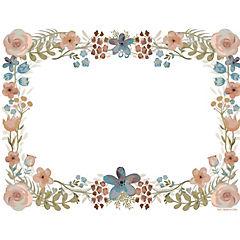 Set de 50 individuales de papel flores 43x33 cm