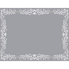 Set de 50 individuales de papel flor blanca 43x33 cm