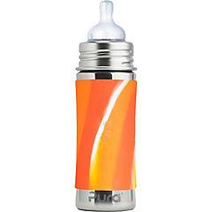 Mamadera acero inoxidable kiki 325 cc tonos naranjos
