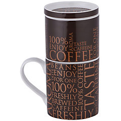 Cafetera para uno, Coffe for one - 100% on dark brown