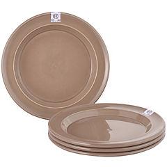 Set 4 platos 21 cm color beige