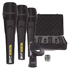 Micrófono dinámico triple