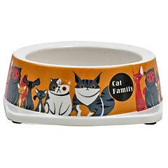 Plato de comida para mascota de melamina 85 g,naranjo