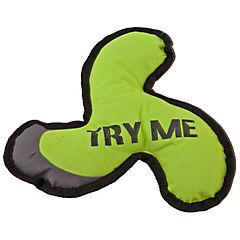 Juguete frisbee de tela para perros, verde
