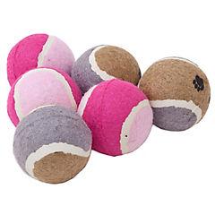 Set 6 pelotas de tenis para mascotas