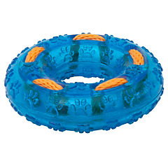 Donut con cuerda resistente para perros, azul