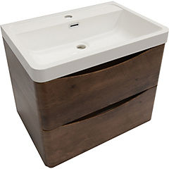 Mueble smile 600 rosewood con lavamanos