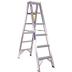 Escalera tijera aluminio doble acceso 6¿ comercial