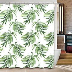 Cortina de baño microfibra 180x180 cm Hojas verdes