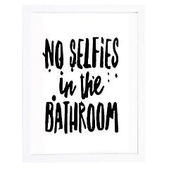 Set 2 cuadros 40x50 cm marco  frase no selfies