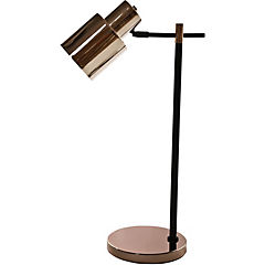 Lámpara de mesa HK cobre E27 40W