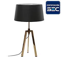 Lámpara de mesa 2 luces cobre brillante E27 40W
