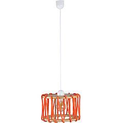 Lámpara de Colgar Madera Cuerda Naranja E-27 60 W