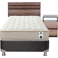 Box spring 1.5 plazas + muebles ares