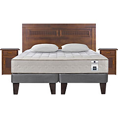 Cama europea king + muebles milan + 2 almohadas