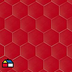 Cerámica rojo 20x23 cm  1 m2
