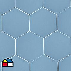 Cerámica 20x23 azul mate 1 m2