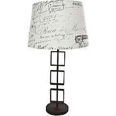 Lámpara de mesa anillos cuadrados E27 40W