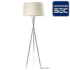 Lámpara de pie trípode cromo E27 40W