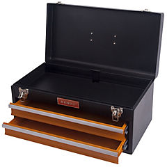 Caja de herramienta metálica tipo estante 2 bandejas