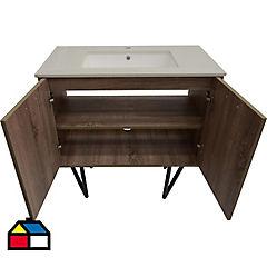 Mueble vintage 90 oak con lavamanos