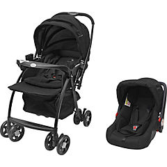 Coche travel system deluxe negro