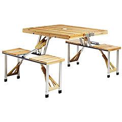 Mesa picnic madera + pisos