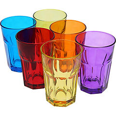 Set 6 Vasos de Colores 500 ml