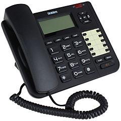 Teléfono alámbrico pantalla lcd 10 memoria música de espera