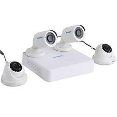 Kit 4 cámaras seguridad 8 canales visión nocturna HD 720 pixeles DVR