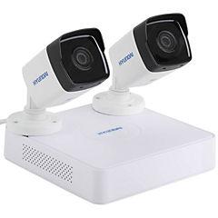 Kit 2 cámaras seguridad visión nocturna Full HD 1080 pixeles Wifi