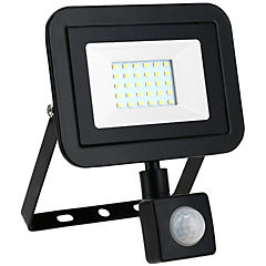Reflector 20 W luz fria negro con sensor