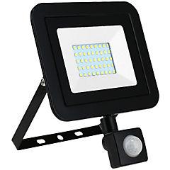 Reflector 30 W luz fria negro con sensor