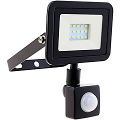 Reflector 10 W luz fria negro con sensor