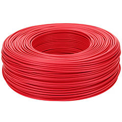 Cable riego 18 awg rojo rollo 200m